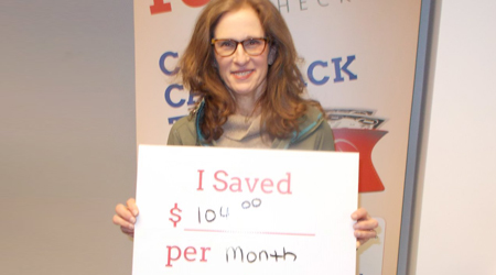 I saved $104 per month.